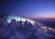 地蔵山頂付近のライトアップ