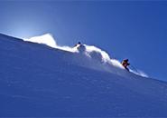 ダイナミック滑降稜線をすべる 地蔵山暗部