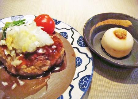 ピーナッツ豆腐&ピーナッツおからハンバーグ