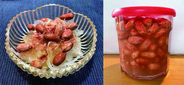 酢漬けピーナッツ&オニオンサラダ