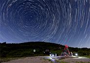 星明合成・北極星を中心に円軌道