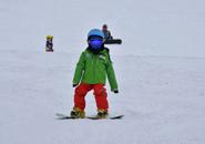 ちびっこボーダー・スイスイスイと滑る